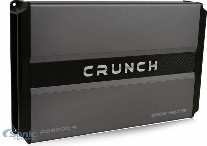 Crunch PD2000.4 2000 Watts RMS 4-Channel Power Car Stereo Amplifier Class AB Amp