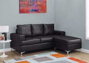 MEUBEL.CA    $499 - SECTIONNEL - BONDED LEATHER