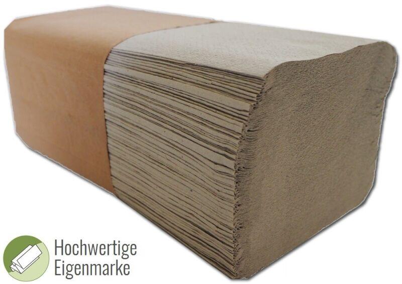 10000x Falthandtücher Papierhandtücher 25x23cm Handtuch 1-lagig ZZ-Falz