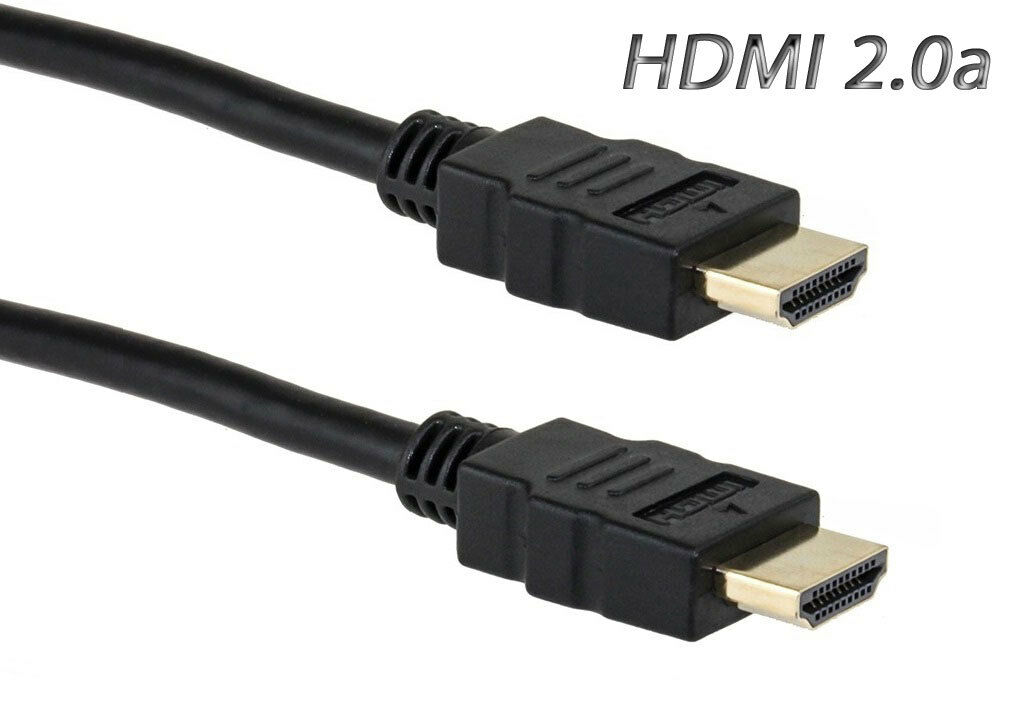 """ULTRA HD 2.0a HDMI CABLE ETHERNET 3D 2160P 6"""" INCH 1FT 2FT 3FT 6FT 8FT 10FT 12FT"""