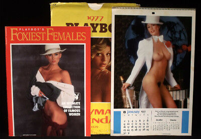 1977 PLAYBOY CALENDAR 1991 PLAYBOY'S FOXIEST FEMALES CELEBRITIES MONROE MADONNA
