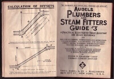 Audels Plumbers &Steam Fitters guide 3 Air Cond Pipe Fitting Heat 1942 Vintage B