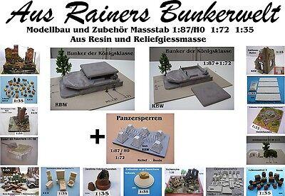 Für Diorama Nr.1120 Bunker der Königsklasse 1:87+1:72