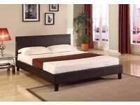 🎉Best Furniture🎉(4ft6inch) Double & (5ft)King Size Leather Bed Frame W Opt Mattress-Order Now