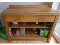 *Reduced* Beautifully simple, Habitat, solid wood sideboard / open shelves and drawers.