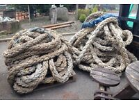 100mm 4 inch thick heavy rope, garden, landscaping, boat, marine, £5 per metre