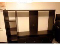 Ikea TV Stand Media Storage Unit Lappland Black-Brown