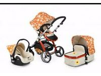 Uber Child Evo 3 Travel System - Orange Flower (2015 Model)