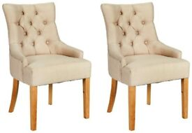 EX DISPLAY 4 Cream Cherwell Dining Chairs