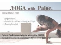 Yoga Classes, Exeter
