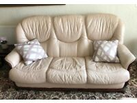 3 piece suite plus x2 chairs and pouffe