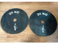 2x 20kg Olympic Weight Plates