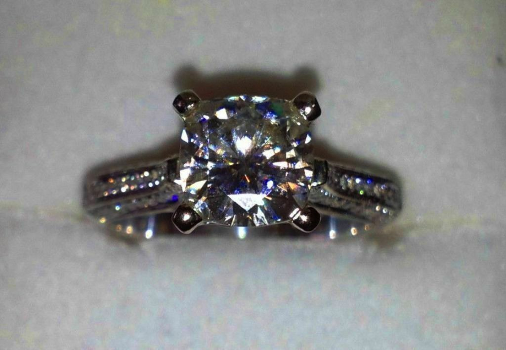 2.45CT BRILLIANT CUT ENGAGEMENT RING 14K SOLID White GOLD SOLITAIRE Anniversary