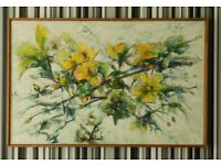 Stunning Large Still Life Oil Painting on canvas Flowers 1960's