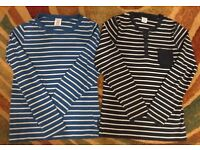 Blue Stripes cotton long sleeves top - Boys ages 6-9