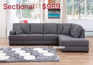 KARLTON SOFA RANGE FROM $479 !!  SECTIONAL $989 ONLY!!  AVAILABLE IN DARK / LIGHT GREY
