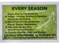 Every season garden services gardener lawns mowed hedges trimmed weed control
