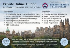 Private Online Tuition in English Language & Literature