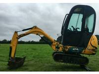 2009 JCB 801 MINI DIGGER WITH CAB EXCAVATOR WITH TWO BUCKETS