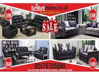 SUPER SALE CHEAP BRAND NEW LEATHER FABRIC RECLINER SOFA'S. FREE NATIONWIDE DELIVERY WITHIN 7 DAYS