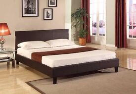 **CHRISMIS OFFER **Kingsize Leather Bed w/ 9inch Deep Quilted Mattress- Single/Double available