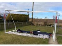 Samba full size goals x 2 Vgc 12ft x6ft complete with nets and storage bags.