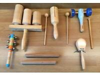 £7 Wooden Percussion Instruments Bundle