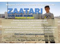 Refugee awarness evening and film showing