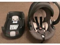 STOKKE *IZI GO BESAFE BABY CARSEAT CARRIER + ISOFIX BASE* Black/Grey Melange From Newborn Stage 0