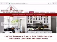 Monument Homes ESTATE AGENTS. Property FOR SALE. Property TO LET