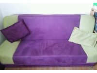 Sofa bed with storage space - very solid - very good condition // free delivery