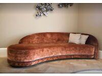 Sofa & Chair Company Luxury Velvet Curved Sofa   RRP £6,060