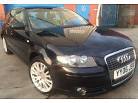 AUDI A3 2.0TDI SPORTBACK 5 DOOR+ONE FEMALE OWNER+FULL S/HISTORY+FULL CREAM HEATED LEATHER SEATS!