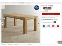 Solid Mango Dining Table (6ft x 3ft) with 2 chairs