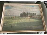 The royal and ancient framed golfing print