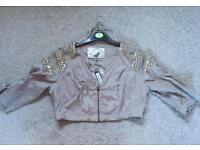 Brand New Next Embellished Cropped Jacket - Size 12