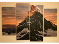 Multi Panel, Mt Matterhorn Canvas