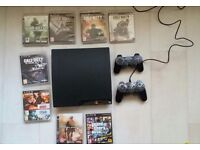 Slimline ps3. 2 pads and 8 games