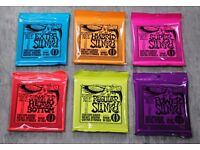 Ernie Ball Electric Guitar Strings Various Sizes 2 for £10