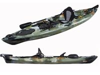 PRO DACE ANGLER 3.6M Single OCEAN FISHING KAYAK SEA CONOE PACKAGE CAMO
