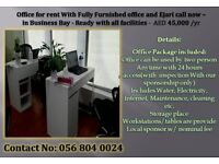 Ready Office for Rent with EJARI, DEWA &Internet