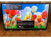"Panasonic Viera 50"" inch smart tv Full HD 3D tx-50ax802b RRP £1200"