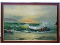 Large original, oil on canvas seascape
