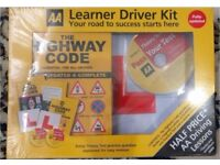 AA Learner Driver Kit - Brand New in sealed pack+ 2 Driving Lessons CDs