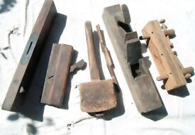 Collection of Vintage Wooden Tools