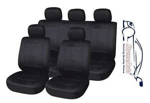 Chiswick 9 PCE Black Full Set of Seat Covers for Kia Cee'd Picanto Rio Soul