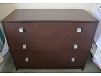 3 Wide Drawer Chest - Wenge – Moving Sale