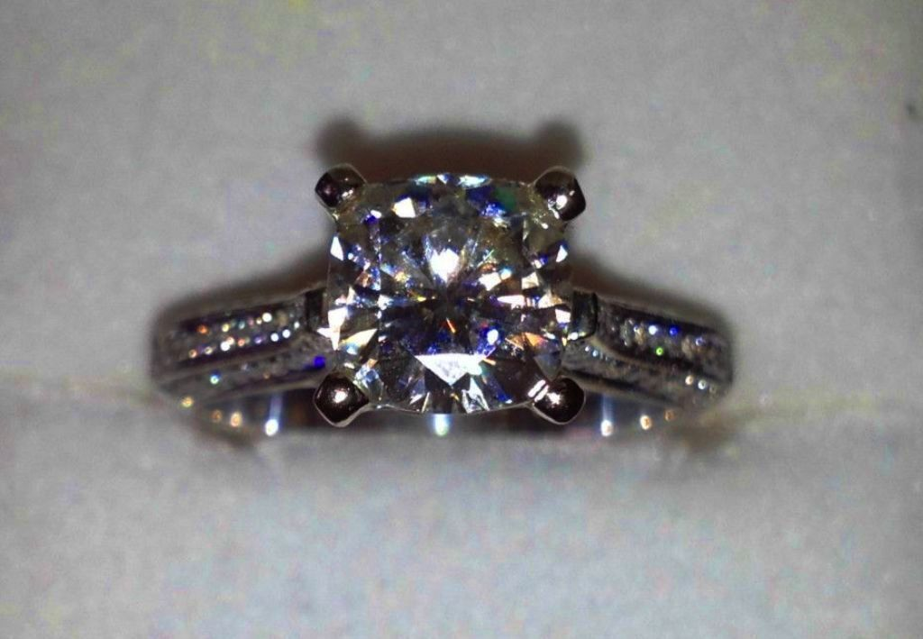 real 14k solid white gold 2.45... Image 2