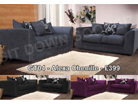 Brand New 3 + 2 Fabric Sofa Settees Or Leather Cheap & Affordable Quick Delivery Sofas