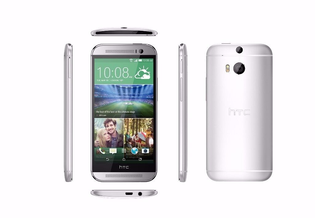 NEW HTC One M8 - 16GB - Silver (Unlocked) Smartphone Seal Pack